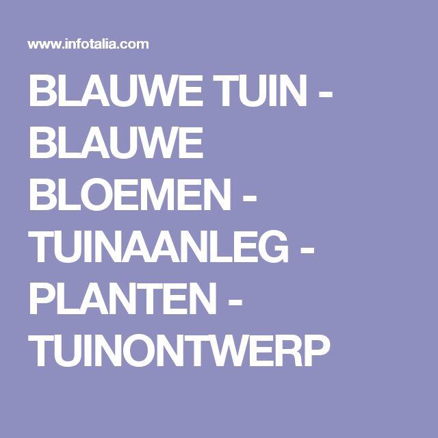 BLAUWE TUIN - BLAUWE BLOEMEN - TUINAANLEG - PLANTEN - TUINONTWERP