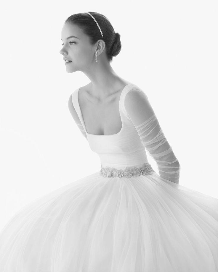 ballerina style wedding gown