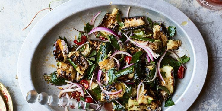Torn Zucchini with Mint and Calabrian Chiles recipe | Epicurious.com