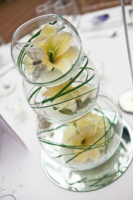 7 sets of 3 tier fish bowl stacker wedding centre piece Inspiration for our brides  | The Bridal Room Atherstone | info@thebridalroomatherstone.co.uk | www.TheBridalRoomAtherstone.co.uk | 01827 767 080 | 65 Station St, ATHERSTONE, Warwickshire, CV9 1DB.