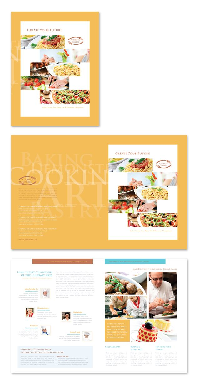 Best Creative Brochure Templates Images On Pinterest - College brochure templates
