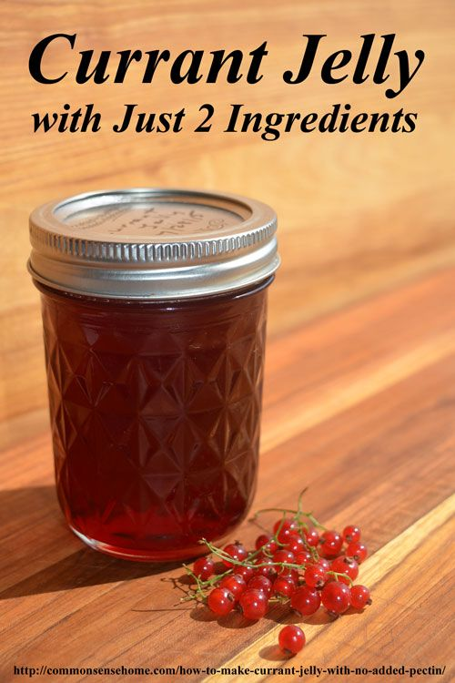 How to Make Currant Jelly with No Added Pectin. This easy homemade jelly recipe has just two ingredients and is perfect for beginning home canners.