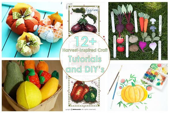 Рукодельный обзор: Урожай / New Tutorials and DIY's to Try: Harves-Inspired Crafts