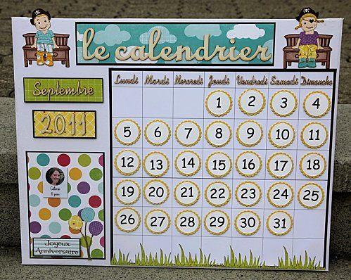 Un super calendrier perpétuel avec des pièces aimantées - Chez maîtresse Ecline