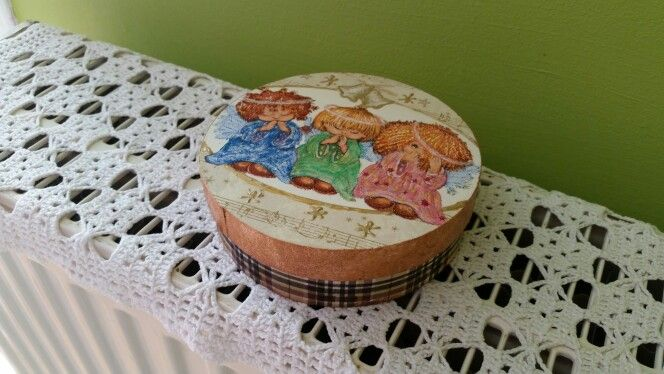 Wooden box-decoupage by me.