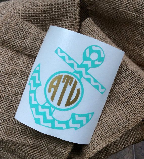 Best Vinyl Decals And Monograms Images On Pinterest - Anchor custom vinyl decals for car