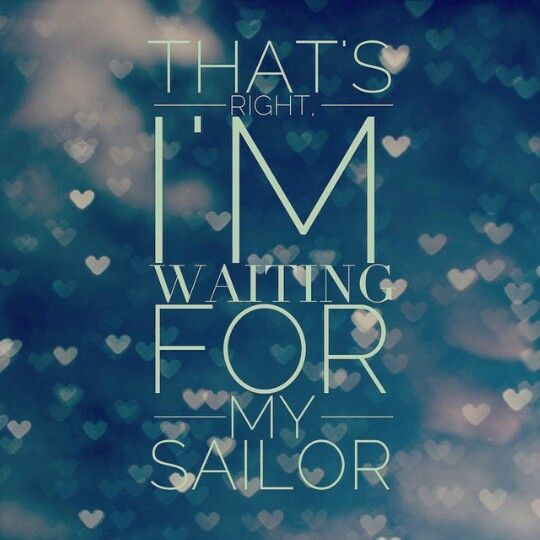 Waiting for my sailor. Proud navy girlfriend