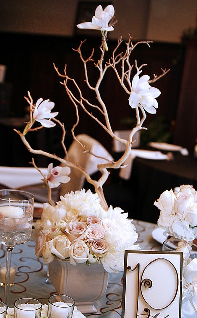 Centerpiece & I can totally DIY the table #'s!!
