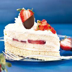 Erdbeer Malakoff Torte • Rezept • GUSTO.AT