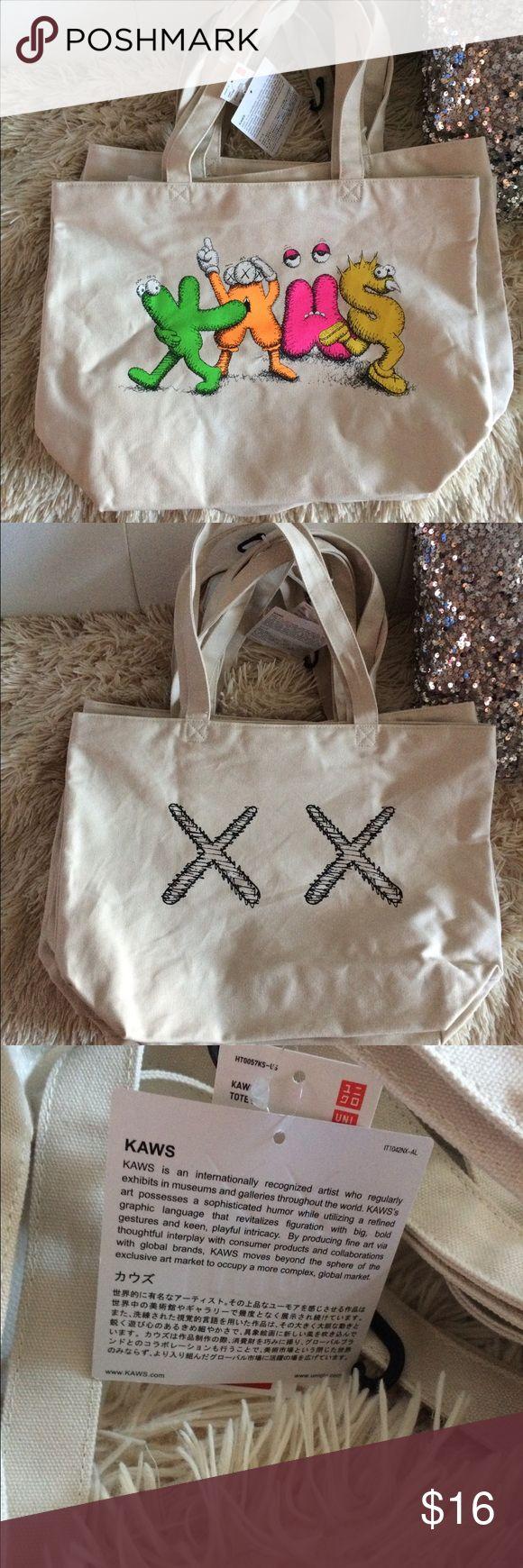 Kaws X Uniqlo Tote Bag Cream Beige Brand new, never worn. Tags are attached. Kaws X Uniqlo Tote Bag. Uniqlo Accessories Hats