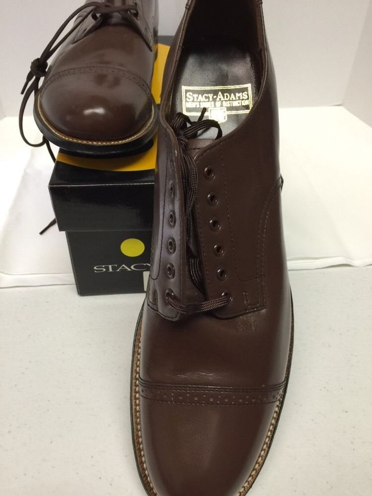 Stacy Adams Madison Brown Dress Shoes Men's New Cyber Monday Sale
