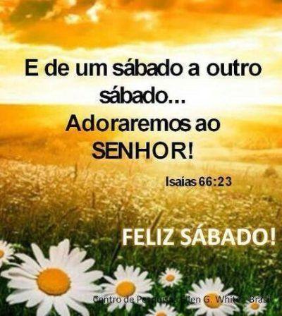 mensagens de feliz sábado Isaias 66