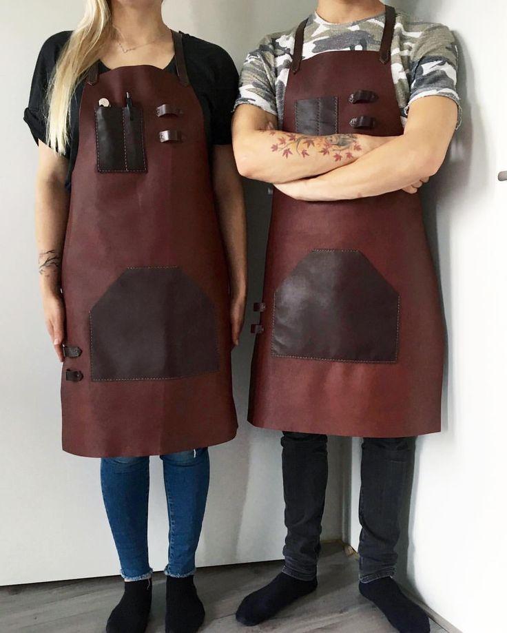 His and her's  Leather apron made from the highest quality veg tan leather from @tarnsjogarveri #karu #karudesigns #karuhandmade #handmade #leather #accessories #vegtan #vegtanleather #tärnsjögarveri #apron #fullleatherapron #leatherapron #bartender #bartending #barista #style #cocktailsforyou #cocktails #unisex #fashion #professional #gear #nordicdesign