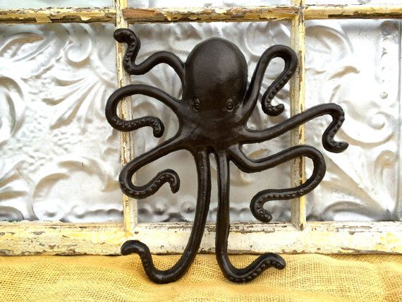 Metal Wall Decor Animals : Coat hook octopus animal wall jewelry organizer