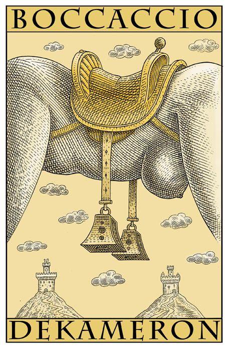 """Le """" Decameron """" de Boccace ou une façon un peu cavalière de voir la femme ! / Affiche. / Poster. / By Istvan Orosz."""