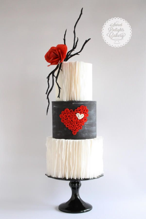 Hi Everyone, Quilling is something that I love very much and since Valentines day is around the corner I made this cake using that technique. Hope you like it :-) Sweet Wishes to All Nisha