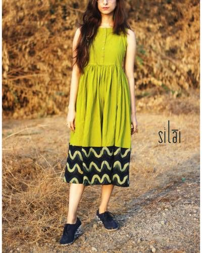 Lime And Indigo Midi