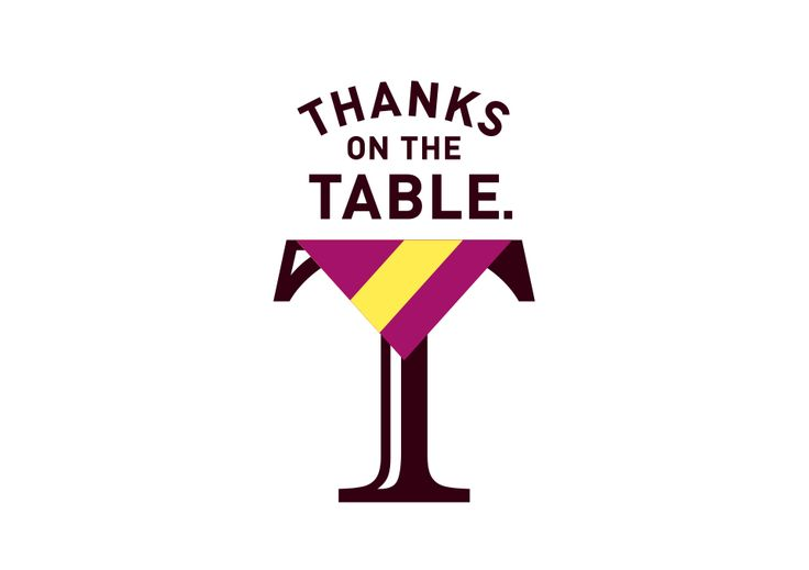 THANKS ON THE TABLE.