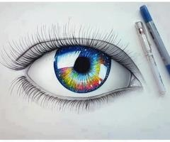 Eye, Black&White with color