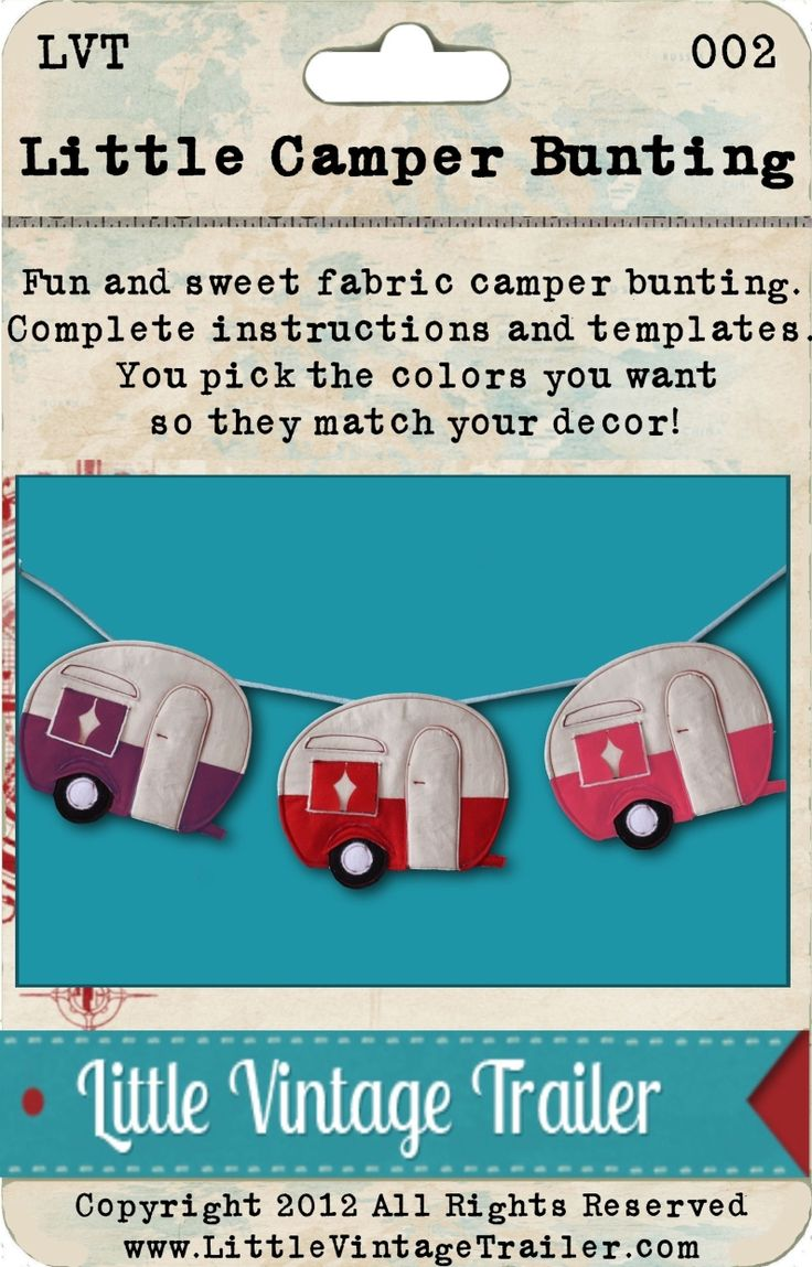 Oh wow- Don't know where i would hang this but I just love it- Vintage Trailer Camper Bunting pattern $5.00