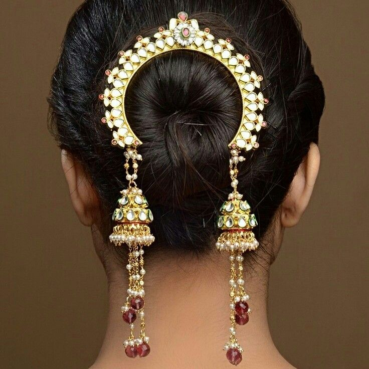 Hairstyle Bridal Juda Images : Best images about kundan collection on jade