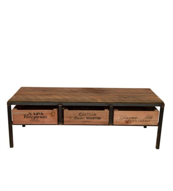 Our Vintage Wine Crate Island Table is a wonderful kitchen island design where Napa valley meets industrial chic in a timeless design. This is perfect for a wine lovers home decor. Constructed from ha
