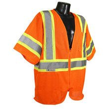 Radians Hi Vis Orange Vest with Two-Tone Trim Class 3 SV22-3ZOM   Hi Vis Safety Direct will beat any other price , we are #1 in Hi Visibility Items .