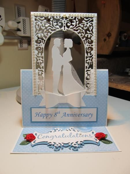 Wedding Flying Easel Card by figaro - Cards and Paper Crafts at Splitcoaststampers