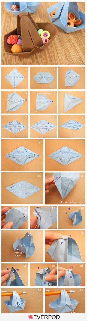 A wider origami basket