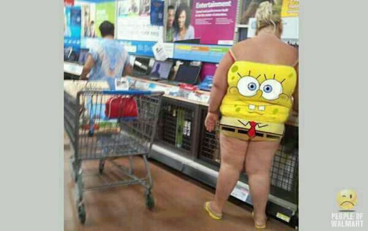 Spongebob Squarepants Dedicated Walmart Shopper Tickles