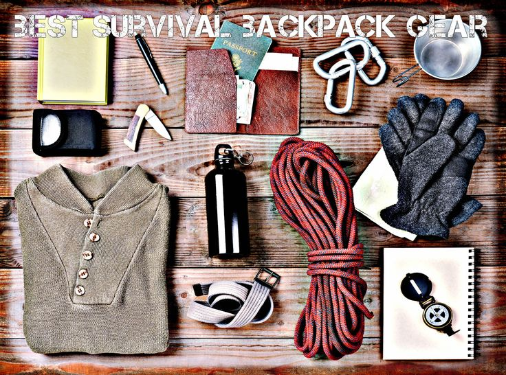 The Best Survival Backpack Gear Laid Out On A Table