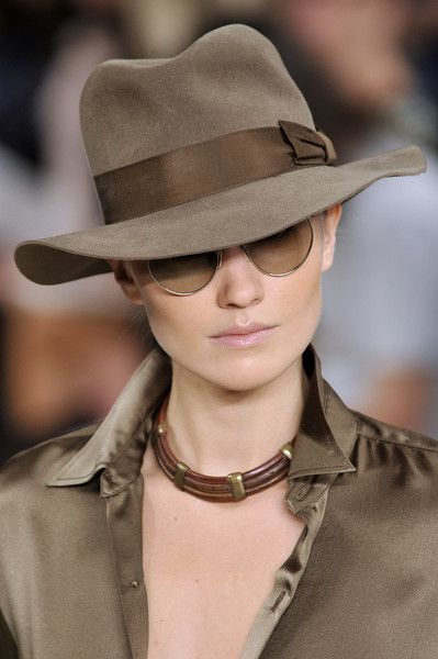 Ralph Lauren Spring ..........love the way this hat has a hint of sleuth and danger to it.