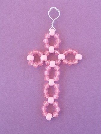 How to make a cross pendant. Beaded Cross - Step 11