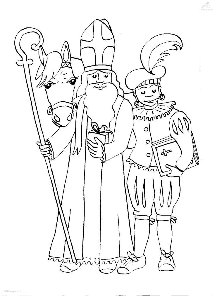 34 best St. Nicholas coloring, Sinterklaas Kleurplaten