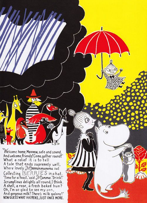 As a kid I read all of Tove Janssons great kids books - Loved them!