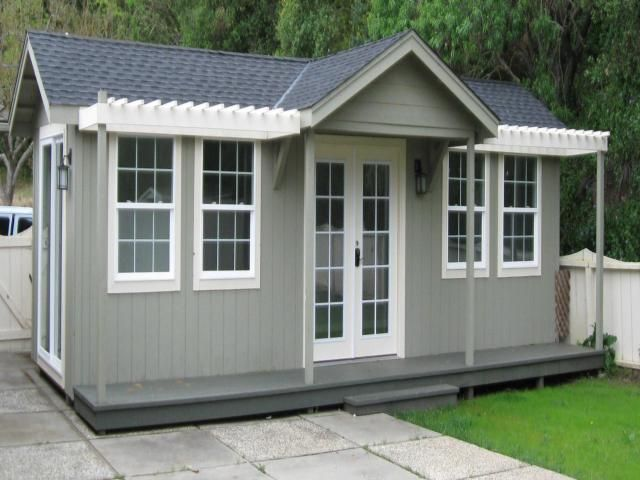 200 600 sq ft pre fab guest house cottages delivered and for Modular granny flat california