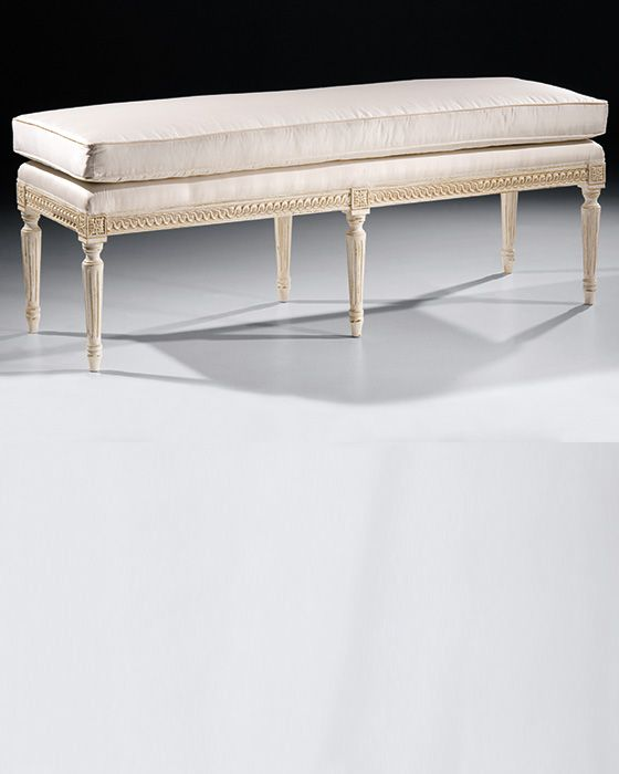 Old Wooden Benches for Sale | bench - Louis XVI antique white bench