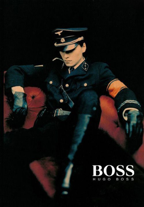 interesting fact that i didnt know,  Hugo Boss started his clothing company in 1924 in Metzingen. His company was supplier for Nazi uniforms since 1924. Hugo Boss was one of the firms contracted by the Nazis to design the black SS uniforms along with the brown SA shirts, and the Hitler Youth uniforms.