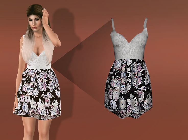 Eris Sims 3 CC Finds (alia-s3: - Floral Dress - Only Female Young...)