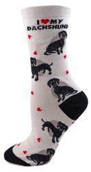 I Love My Black Dachshund Socks
