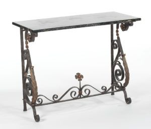 Metal Console Table Marble Top