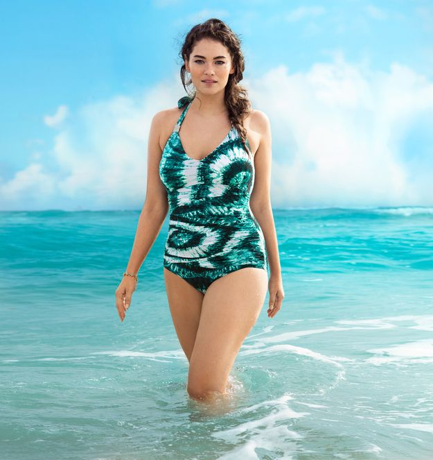 Love this H plus size swim suit! I haven't wanted to buy a one piece since elementary school!