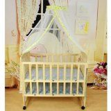 Eforcase Baby Mosquito Net Baby Toddler Bed Crib Canopy Netting White Babe Dome Simple Hanging Mosquito Nets (Yellow(1.6M*4.2M))