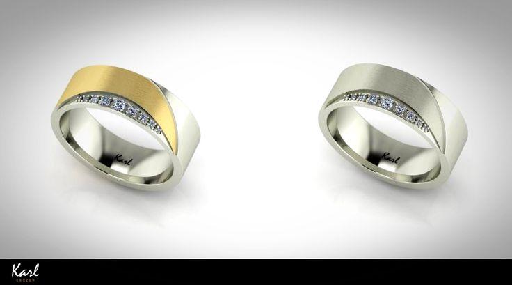 White gold or yellow gold? For more unique jewelry please visit our website: http://www.karl-ekszer.hu/ekszereink/karikagyuruk/Modern,letisztult-karikagyuru-chantell