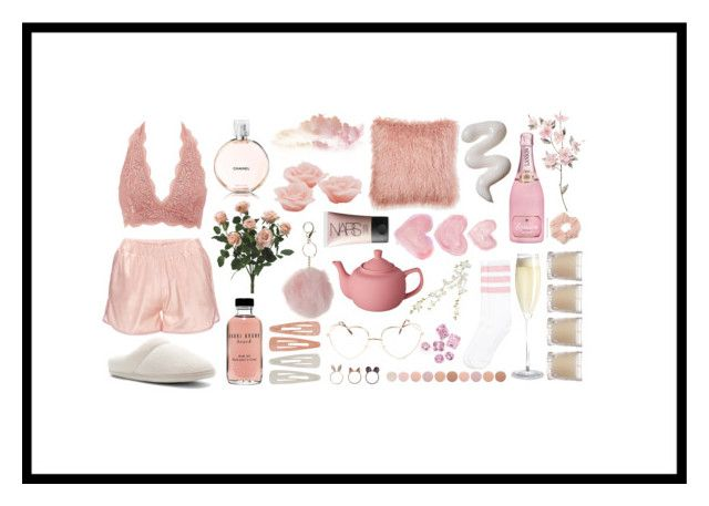 """""""Roses and cremé"""" by mishcacao on Polyvore featuring Charlotte Russe, Chanel, Dorothy Perkins, NARS Cosmetics, Bobbi Brown Cosmetics, CB2, Shabby Chic, Forever 21, Tempur-Pedic and Deborah Lippmann"""