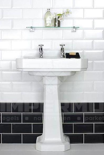 #badkamer Metrotegel Zwart-Wit @impermo #impermo
