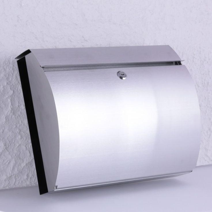 Briefkasten aus Edelstahl mit Zeitungsfach | Türklingel Online Shop