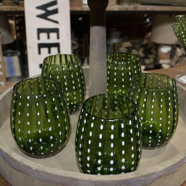 Cambria Cactus Glassware by Teskey's Saddle Shop - COWGIRL Magazine