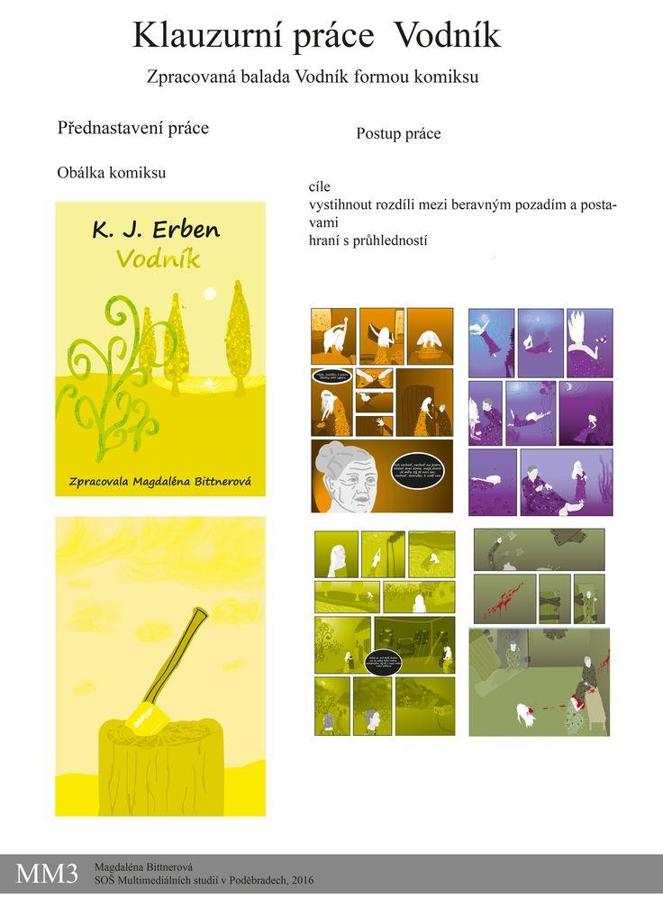 Zpracovaná balada Vodník od K. J. Erbena na motivy filmu Limonádový Joe a obrazy Gustava Klimta