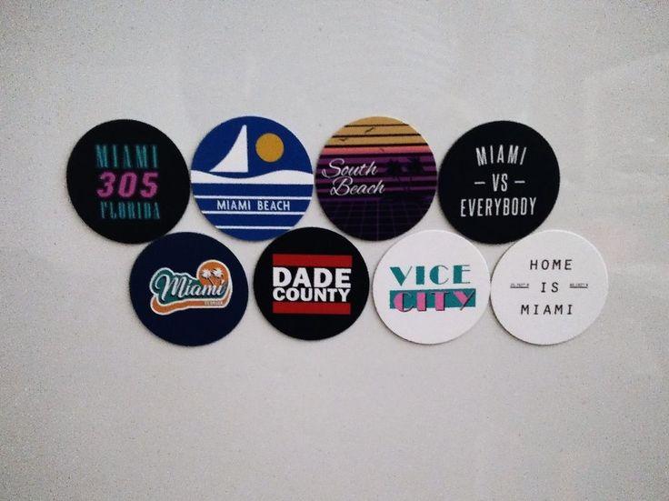 Miami Magnets - City of Miami Florida Magnets - City Pride -  8 Designs #Miami